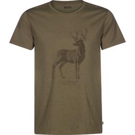 Fjällräven Deer Print Camiseta Hombre, tarmac